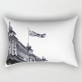 London Skies Watercolour Travel Sketch Rectangular Pillow