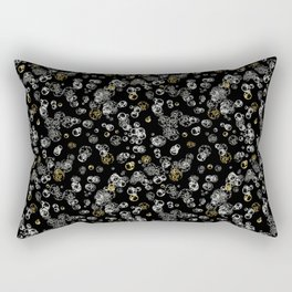 Arabidopsis isolated cells grey-gold on black Rectangular Pillow