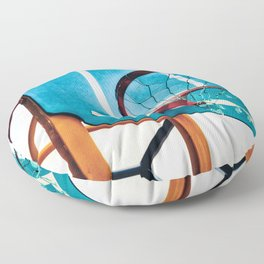 Basket ring blue red Floor Pillow