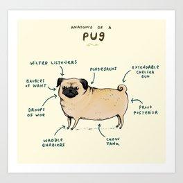 Anatomy of a Pug Kunstdrucke