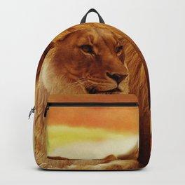 Lion couple | Couple de Lion Backpack