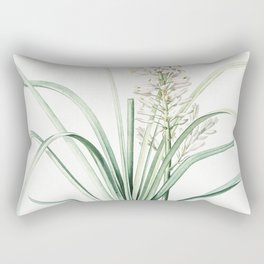 Branched asphodel  from Les liliacees (1805) by Pierre Joseph Redoute (1759-1840) Rectangular Pillow