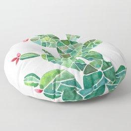 Mosaic Cactus Floor Pillow