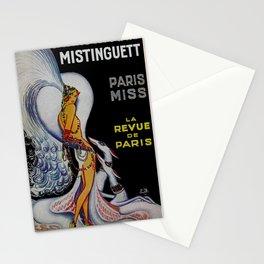 Vintage Paris France Cabaret Ad Stationery Cards