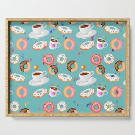 Coffee and Doughnuts Serving Tray