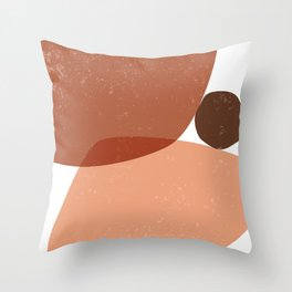 Terracotta 05 - Contemporary, Minimal Abstract Throw Pillow
