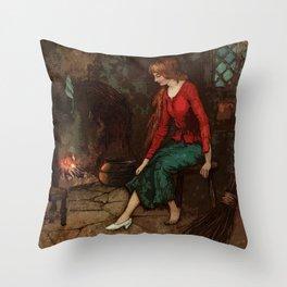 The glass slipper Throw Pillow