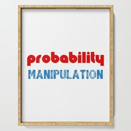 Probability Manipulation Red and Blue Letter graphic Serving Tray