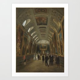 Auguste Jean Simon Roux - Louis-Philippe visiting the Luxembourg Museum.jpg Art Print