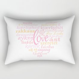 Love in Multi-Language Rectangular Pillow