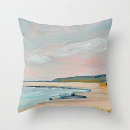 Crane Beach, Ipswich Throw Pillow
