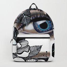 rostros y flores Backpack