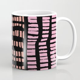 Marks in Pastels over Black Coffee Mug