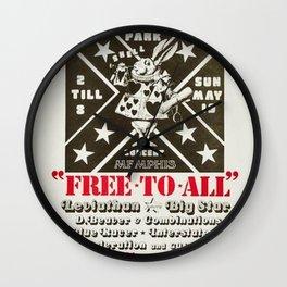 Rare 1974 Big Star Overton Park, Memphis Concert Poster Wall Clock