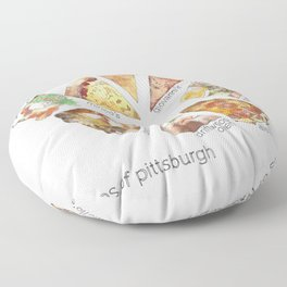 Slices of Pittsburgh Floor Pillow