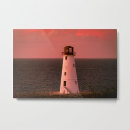 Paradise Island Neglected Lighthouse Nassau Harbor Bahamas Metal Print