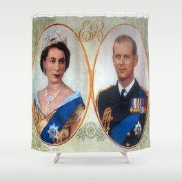 Queen Elizabeth 11 & Prince Philip in 1952 Shower Curtain
