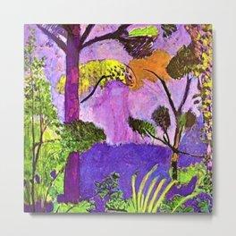 Henri Matisse - Purple Twilight Moroccan Tropical Forest Everglades Landscape Metal Print