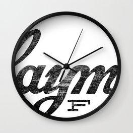 Claymore F.T.E. - Inaugural Print Wall Clock