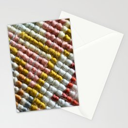 colorful zoom silk rug carpet knots pattern Stationery Cards