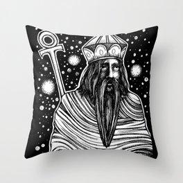 The Emperor Tarot Throw Pillow