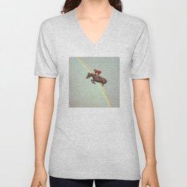 Horse over rainbow Unisex V-Neck