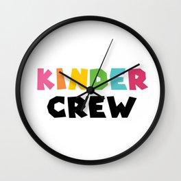 KINDER CREW, Kindergarten teacher Wall Clock