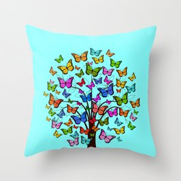 Butterflyes XGX Throw Pillow
