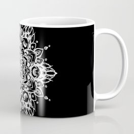 Grunge Feathered Mandala A - White Coffee Mug