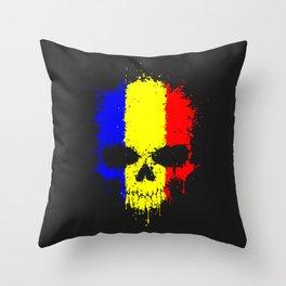 Romanian skull Throw Pillow
