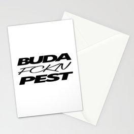 Buda fckn pest Stationery Cards