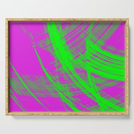 Intersecting fibers of light threads with dawn energy of futuristic abstraction.  Serving Tray