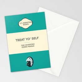 Treat yo' self - the book Stationery Cards