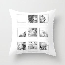 Memento Polaroids - Movie Inspired Art Throw Pillow
