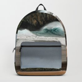 Wave Series Photograph No. 26 - Breaking Waves on the Coast Backpack