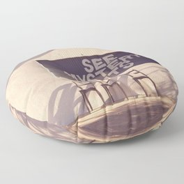 See Mystery Lights - Marfa, Texas Floor Pillow