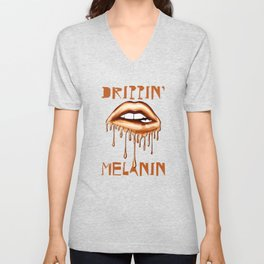 Drippin' Melanin Unisex V-Neck