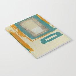 Soft And Bold Rothko Inspired - Corbin Henry Modern Art - Teal Blue Orange Beige Notebook