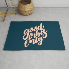 Good Vibes Only Fun Valentine's Day Quote Rug