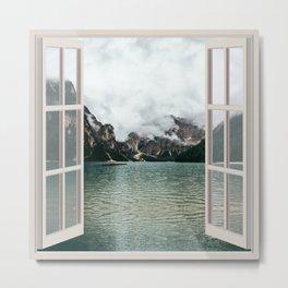 Cloudy River Landscape   OPEN WINDOW ART Metal Print