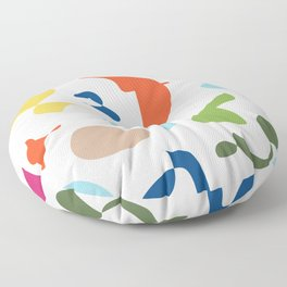 Vintage abstract Floor Pillow