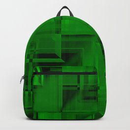 Metallic pattern of malachite squares with twilight texture wrapping frames.  Backpack