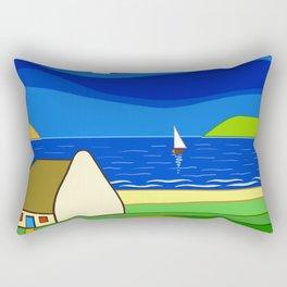 Night Sailing Rectangular Pillow
