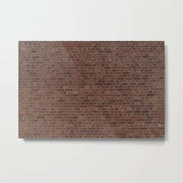NYC Big Apple Manhattan City Brown Stone Brick Wall Metal Print
