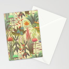Bioluminescent Jungle, day version Stationery Cards