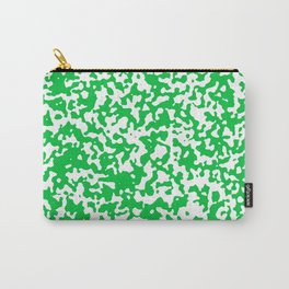 Small Spots - White and Dark Pastel Green Carry-All Pouch