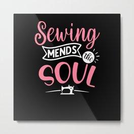Sewing Metal Print