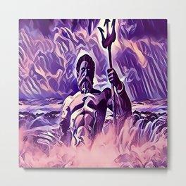 Poseidon - God of the Sea Metal Print