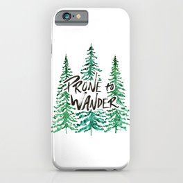 Prone to Wander - Green iPhone Case
