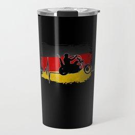 Biker Design With Germany Flag Travel Mug